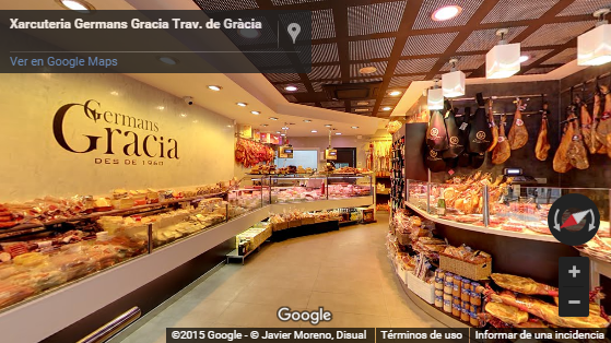 Tour Virtual Charcuteria Travessera Barcelona Germans Gracia
